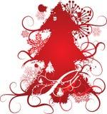 Grunge Weihnachtsbaumhintergrund, vektorabbildung Stockfoto