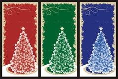 Grunge Weihnachtshintergründe Lizenzfreie Stockfotos