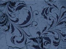 Grunge Weinlese-Blumenhintergrund Lizenzfreie Stockbilder