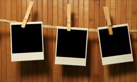 Grunge Weinlese-Polaroid-Felder Lizenzfreie Stockbilder