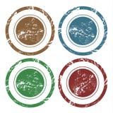 Grunge wektorowi puści znaczki Ilustracja Wektor