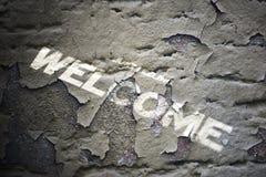 Grunge welcome text Stock Photos