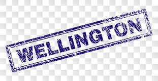 Grunge WELLINGTON Rectangle Stamp ilustração royalty free
