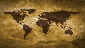 Grunge Weltkarte Stockbild