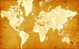 Grunge Weltkarte Lizenzfreies Stockfoto