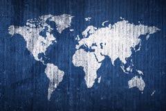 Grunge Weltkarte Lizenzfreie Stockfotografie