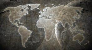 Grunge Weltkartenhintergrund lizenzfreies stockfoto