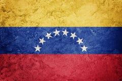 Grunge Wenezuela flaga Wenezuela flaga z grunge teksturą Zdjęcia Stock