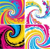 Grunge whirl pattern background Stock Photo