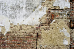 Grunge White And Brick Wall Stock Image