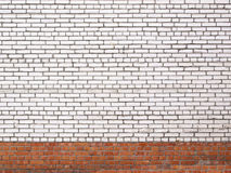 Grunge white brick wall, stone surface as a background royalty free stock photography