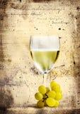Grunge White Wine Stock Image