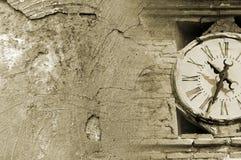Grunge wierza zegar zdjęcie royalty free