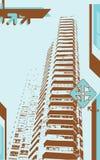 grunge wieży miasta. Obraz Stock