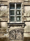 Grunge window - urban decay royalty free stock images