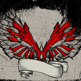 Grunge wing frame Royalty Free Stock Images