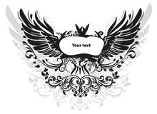 Grunge wings Royalty Free Stock Photo