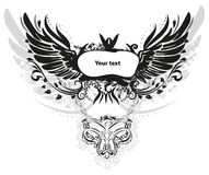 Grunge wings Stock Photo