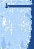 Grunge winter background Stock Image