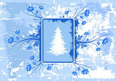 Grunge winter background Stock Photography
