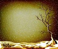 Grunge winter landscape Stock Image