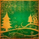 Grunge winter landscape Stock Photography