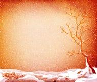 Grunge winter landscape Royalty Free Stock Photos