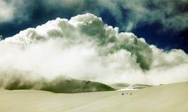 Grunge winter mountains landscape Stock Image