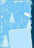 Grunge Winterhintergrund Lizenzfreies Stockbild