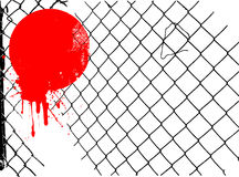 Grunge wire fence vector Stock Image