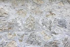 Grunge witte concrete en steenmuur Stock Afbeeldingen