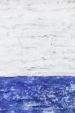 Grunge witte en blauwe muur Royalty-vrije Stock Foto's