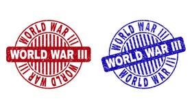 Grunge wojny światowej III Round Textured Watermarks ilustracji