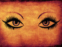 Grunge woman eyes Stock Photo