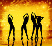 Grunge, women dancing Stock Image