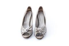 Grunge women shoes on whit background Royalty Free Stock Image