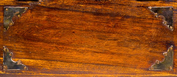 Grunge Wood. A grunge wood texture with metalplatings and place for text Stock Images
