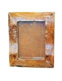 Grunge wood frame stock image