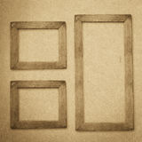Grunge wood frame background, vintage paper texture Stock Image