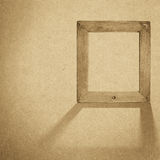 Grunge wood frame background, vintage paper texture Stock Photography