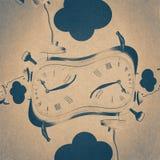Grunge wood frame background, vintage paper texture Royalty Free Stock Image