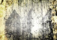 Grunge wood and paper texture with swirls. Grunge background with lots of wood and paper texture, stains, scratches and swirl designs Royalty Free Stock Photo