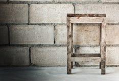 Grunge of wood stool Stock Image
