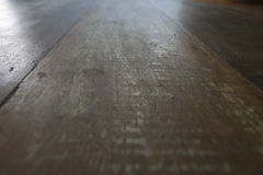 Grunge wood table surface in perspective view. Great for backgrounds. Stock Photos