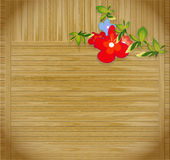 Grunge wooden background. Flowers on striped grunge wooden background with place for text Royalty Free Stock Images