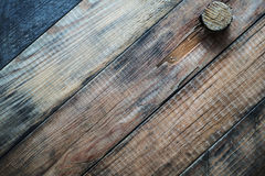 Grunge wooden background with a cork. Royalty Free Stock Photos