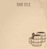 Grunge  wooden barrels of wine Royalty Free Stock Photos