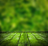 Grunge wooden on blurred nature Stock Images