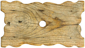 Grunge Wooden Board Shaped. Horizontal old grunge wood board on white background Stock Photo