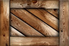 Grunge wooden box background. Vector Royalty Free Stock Image